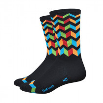 DEFEET Sock Aireator Hi-Top Jitterburg Black Blue Orange