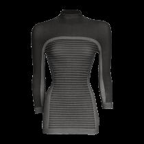 Megmeister drynamo dames ondershirt met lange mouwen en hoge kraag zwart