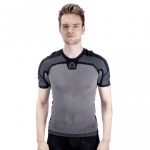 Megmeister drynamo ondershirt met korte mouwen charcoal zwart