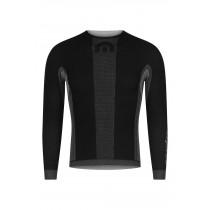 Megmeister drynamo ondershirt met lange mouwen charcoal zwart