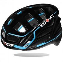 Suomy gun wind S-line fietshelm zwart licht blauw