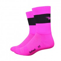 DEFEET Sock Aireator Team Defeet Hi Vis Pink Black