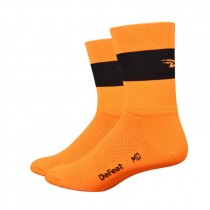 DEFEET Sock Aireator Team Defeet Hi Vis Orange Black