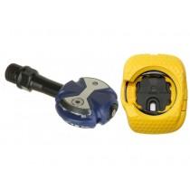 Speedplay zero chrome-moly + walkable cleat pedalen true blauw