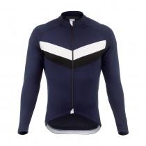 De Marchi classica fietsshirt lange mouwen blauw