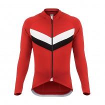 De Marchi classica fietsshirt lange mouwen rood