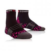 COMPRESSPORT Bike Socks High Black Pink
