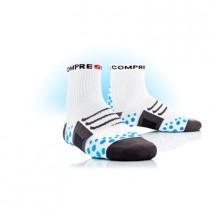 COMPRESSPORT Bike Socks High White Blue