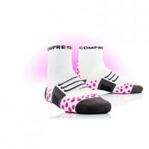 COMPRESSPORT Bike Socks High White Pink
