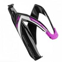 ELITE Bidonhouder Custom Race Glossy Black - Purple Logo