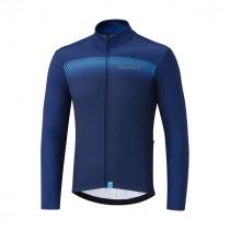 Shimano team fietsshirt met lange mouwen blauw