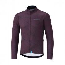 Shimano team fietsshirt met lange mouwen rood
