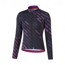 Shimano kaede thermal fietsshirt met lange mouwen paars