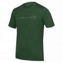 Endura singletrack merino fietsshirt met korte mouwen forest groen
