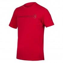 Endura singletrack merino fietsshirt met korte mouwen rust rood