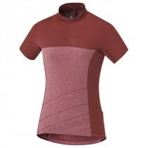 Shimano trail dames fietsshirt met korte mouwen garnet roze