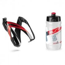 Elite Kite ceo bidonhouder + Corsetta bidon 350ml zwart rood