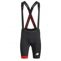 Assos equipe rs S9 korte fietsbroek met bretels zwart national rood