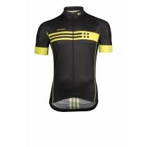 Vermarc squadra fietsshirt korte mouwen zwart fluo geel