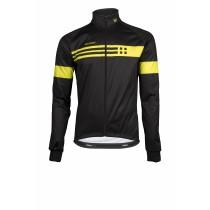 Vermarc squadra mid season fietsjack zwart fluo geel