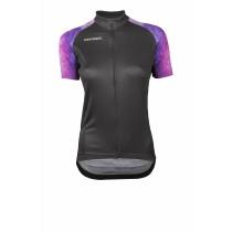 Vermarc galaxy dames fietsshirt korte mouwen zwart