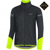 Gore bike wear power gore tex fietsjack zwart geel
