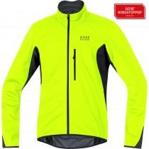 Gore bike wear element windstopper soft shell fietsjack geel