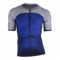 Uyn alpha fietsshirt met korte mouwen medieval blauw sleet grijs