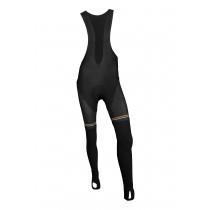 Vermarc les coureurs dames lange fietsbroek met bretels zwart