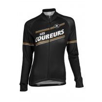 Vermarc les coureurs dames fietsshirt met lange mouwen zwart
