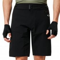 Oakley mtb trail korte fietsbroek blackout zwart grijs