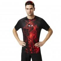 Oakley mtb tech tee fietsshirt met korte mouwen zwart rood