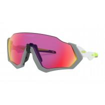 Oakley flight jacket fietsbril mat fog - prizm road lens