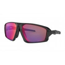 Oakley field jacket fietsbril polished zwart - prizm road lens