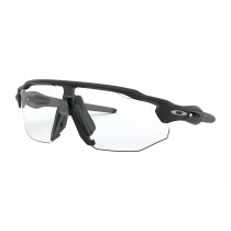 Oakley radar ev advancer fietsbril mat zwart - clear black iridium photochromic lens