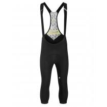 Assos mille gt spring/fall 3/4 fietsbroek met bretels blackseries zwart