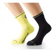 ASSOS Mille Evo 7 Sock Volt Yellow Black (2 Pairs)