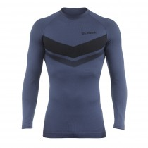 De Marchi leggera seamless ondershirt met korte mouwen teal blauw