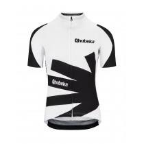 Assos Qhubeka moving forward fietsshirt met korte mouwen zwart