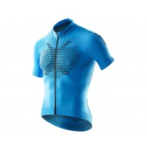 X-Bionic twyce biking fietsshirt met korte mouwen french blauw zwart