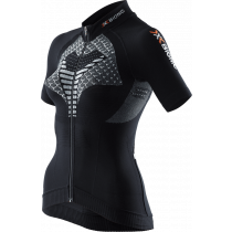 X-Bionic twyce biking dames fietsshirt met korte mouwen zwart wit