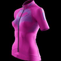 X-Bionic twyce biking dames fietsshirt met korte mouwen violet turquoise