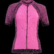 UYN activyon biking dames fietsshirt met korte mouwen violet roze zwart