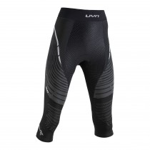 Uyn Alpha Dames Fietsbroek Medium - Blackboard/Pearl