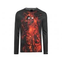 Oakley mtb tech tee fietsshirt met lange mouwen zwart rood