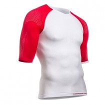 COMPRESSPORT On/Off Multisport Shirt KM White Red