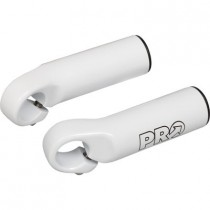 PRO Bar Ends Straight Short Oversized White