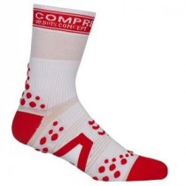 COMPRESSPORT Bike Socks High White Red