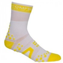 COMPRESSPORT Bike Socks High White Yellow