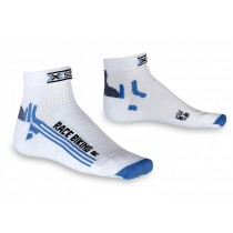 X-Socks bike racing dames fietssok wit blauw